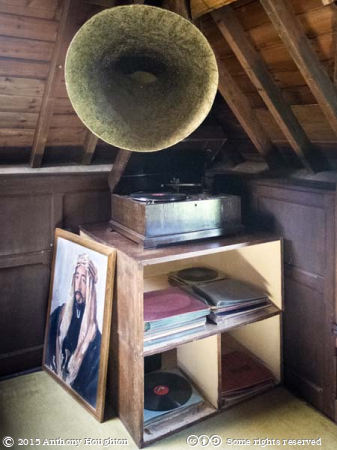 Gramophone,Music Room,Clouds Hill,Bovington,T E Lawrence