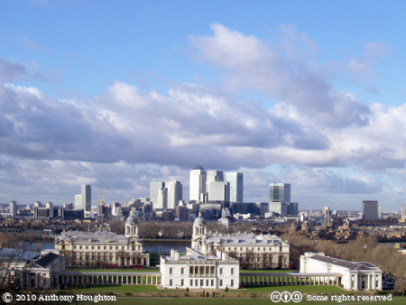 Canary Wharf,Greenwich Park,Royal Naval College