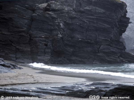 Trebarwith,Beach,Cliffs